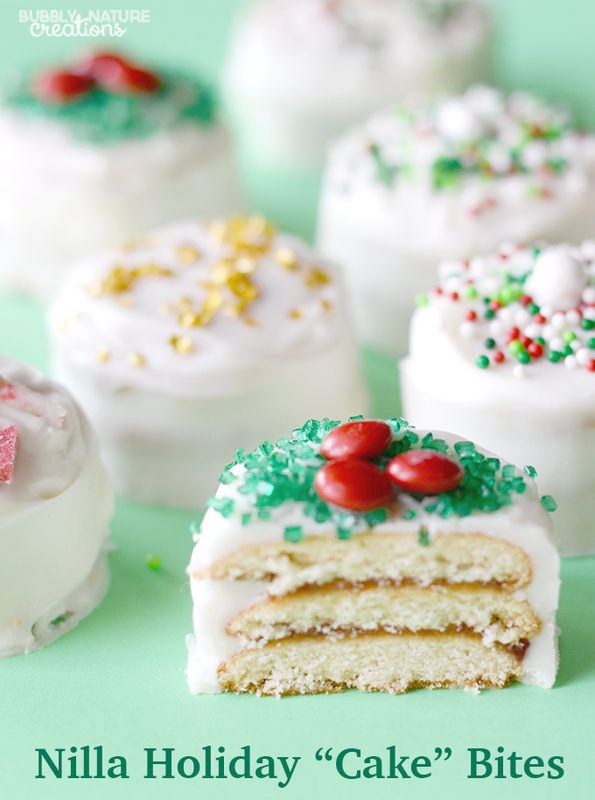 Holiday Cake Recipes Pictures : Nilla Holiday ?Cake? Bites! {Easy Christmas Recipe}