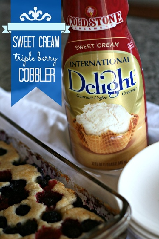 ... Why not substitute the milk with the Cold Stone Sweet Cream Creamer