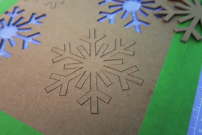 Chipboard Snowflake Ornaments