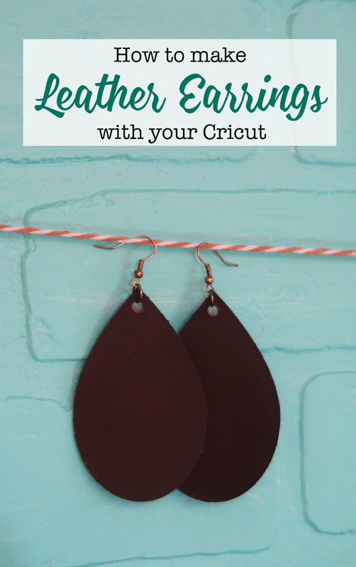 How to make leather earrings with your Cricut