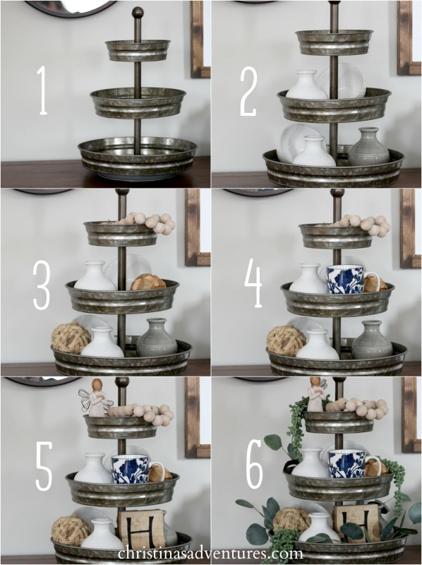 Step by step how to style a tiered tray