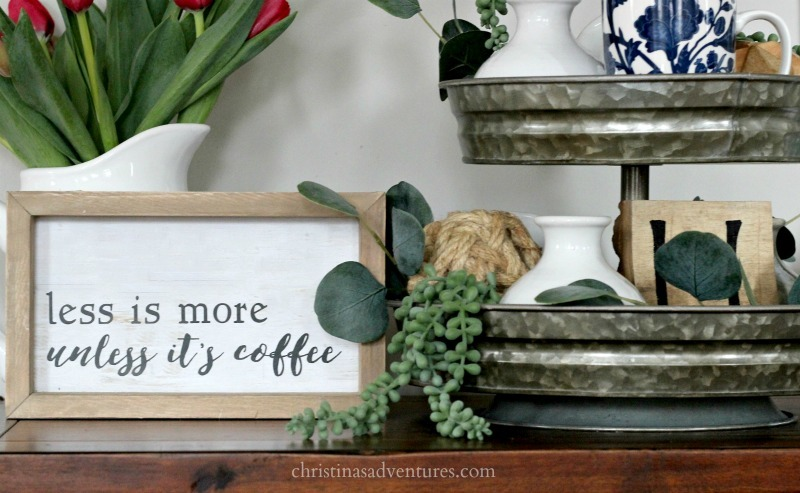 less is more until its coffee