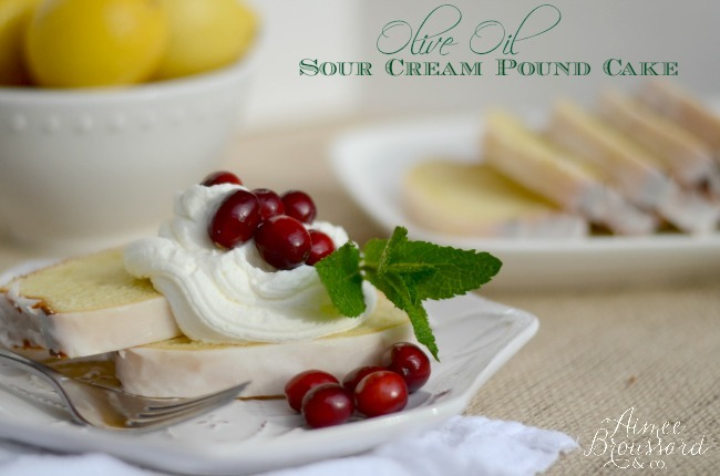 Olive Oil Sour Cream Pound Cake
