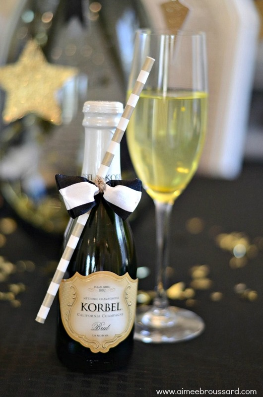 Oscar Party Champagne Bowtie DIY