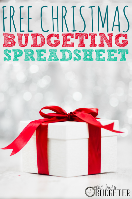 Free Christmas Budgeting Spreadsheet