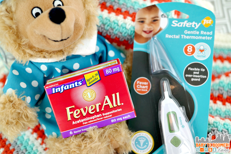 Fever in Babies and Tips for Taking a Child's Temperature #FeverAllFeverReady #ad