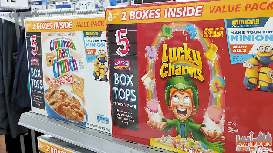 Box Tops for Education Big G Cereals