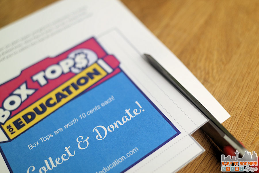 Box tops for Education Cut Solid Line