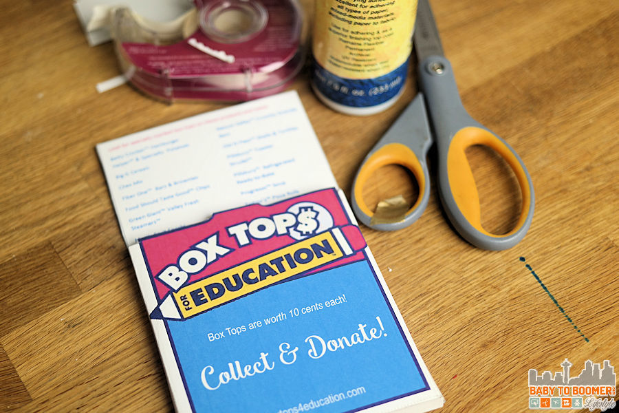 Box tops for Education DIY Holder