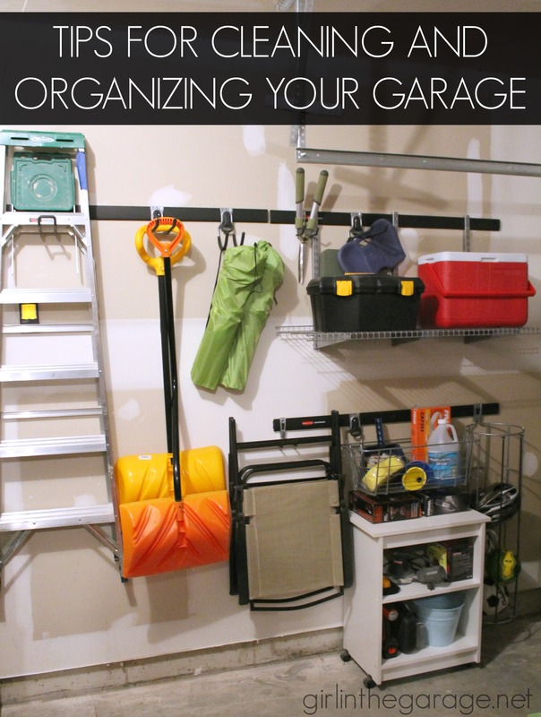 Advice for clearing the clutter and organizing your garage.  girlinthegarage.net  #sponsored #ad