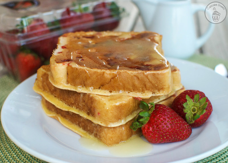 Strawberry French Toast with Warm Buttermilk Syrup