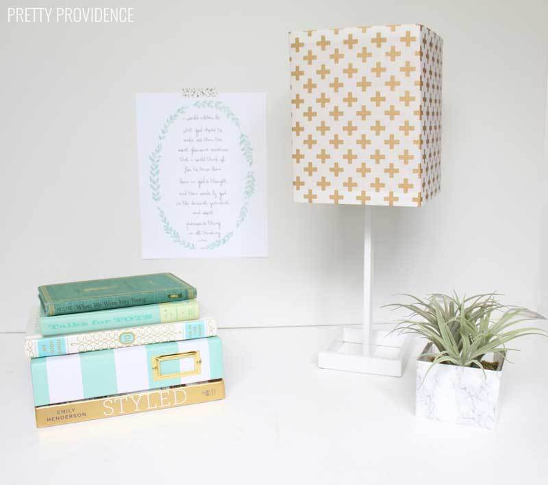 Easiest way to recover a lampshade with fabric!!
