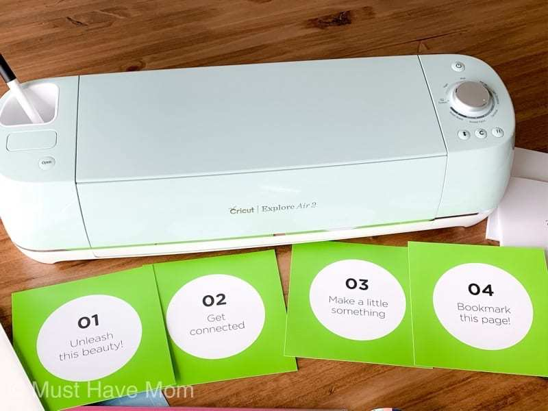 how to set up Cricut Explore Air 2