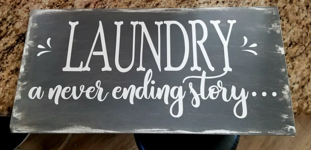 farmhouse laundry sign