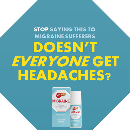 Enjoying blissful relief from migraine pain with Stopain Migraine #Migrainerelief
