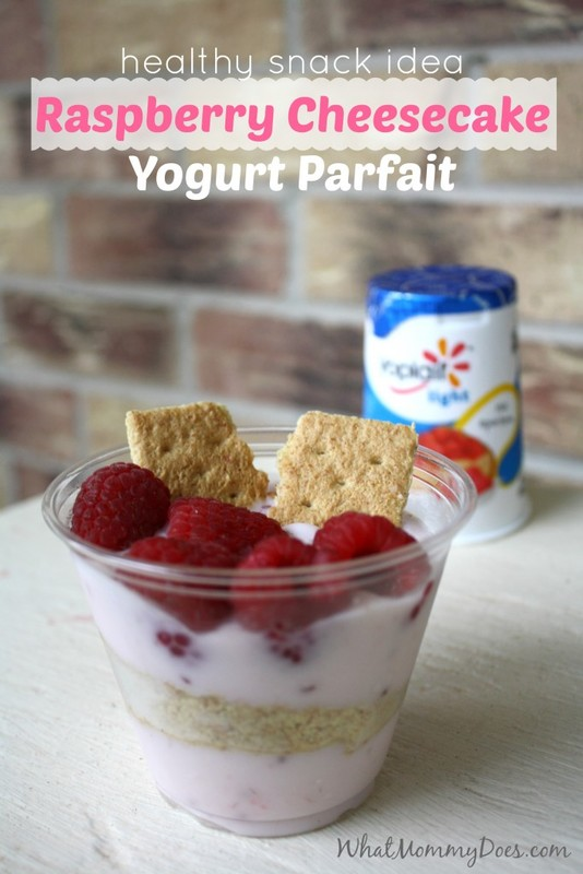 I'm always looking for easy healthy snack ideas for kids - this super simple raspberry cheesecake parfait is cheap, delicious, and kid-approved! It's so simple to make, even my 7 year old can make it quickly. Even my toddler thougght it was yummy! Top it with fruit for extra fiber. My go-to recipe when I want to make something a little fancier for snack time.