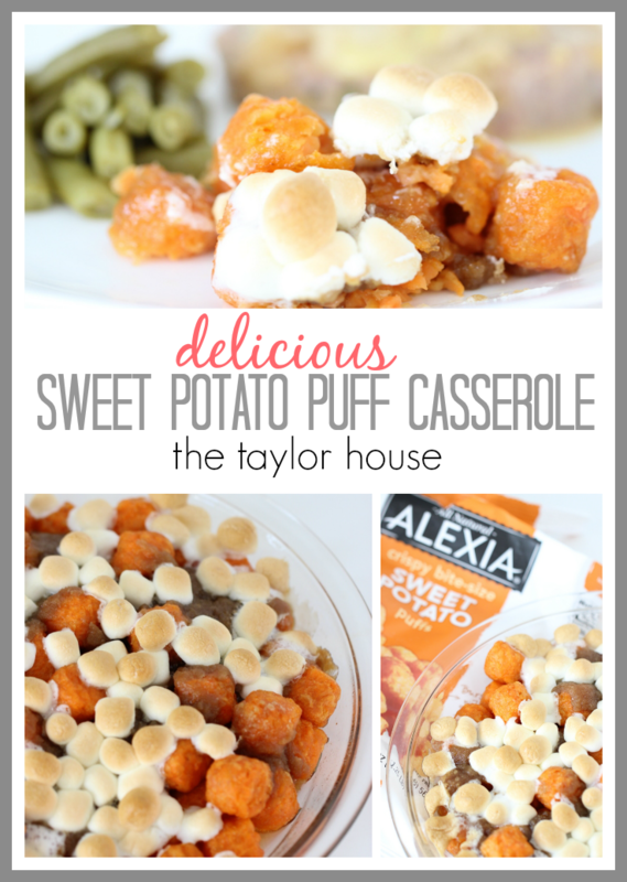 Delicious and Easy to make Sweet Potato Puff Casserole!