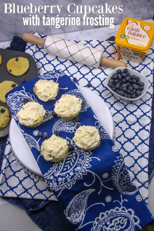 Blueberry Cupcakes with Tangerine Frosting