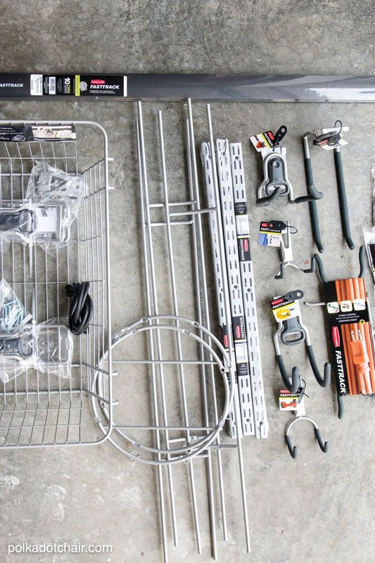 Tips and Instructions on How to Organize Your Garage- love the system they used on the wall!