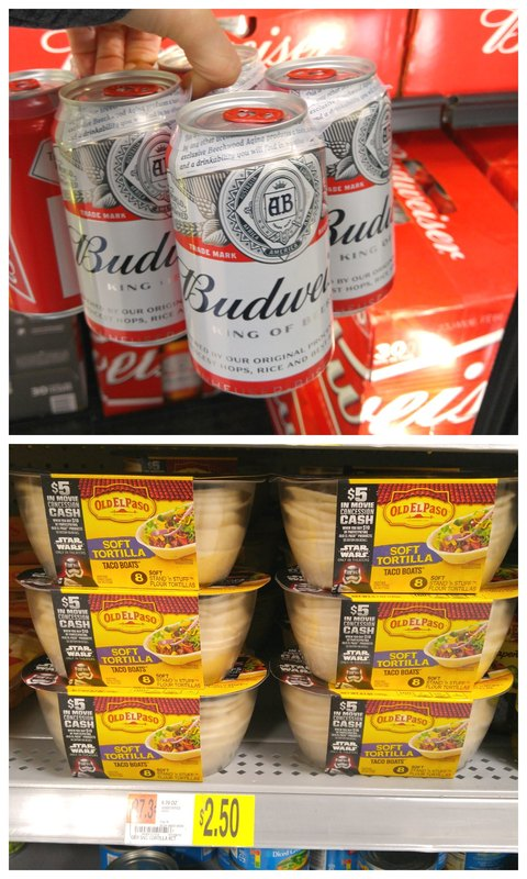 Find Budweiser and Old El Paso™ taco shells at Walmart for your slow cooker chicken taco recipe!