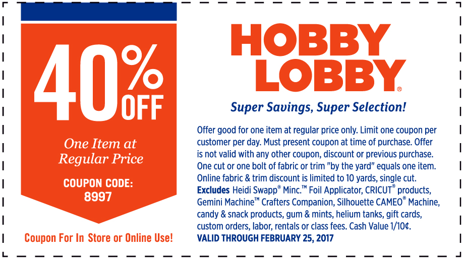Hobby Lobby Coupon | Pretty My Party