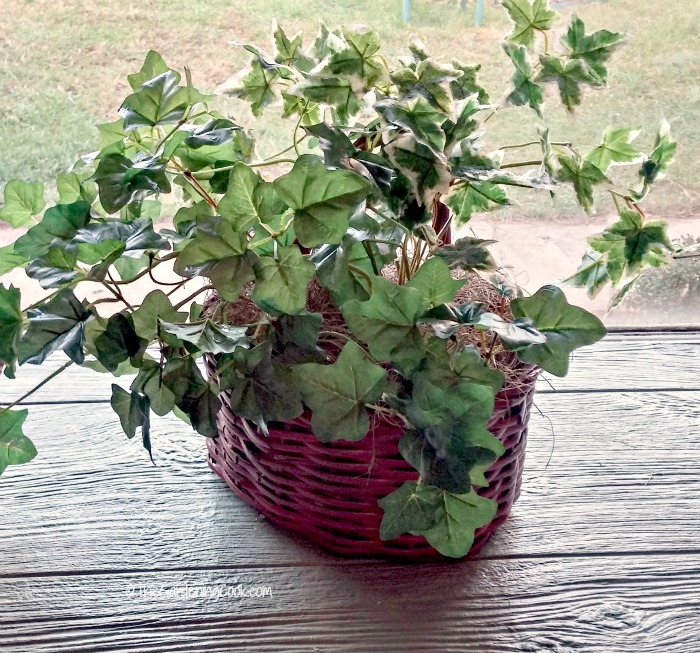 Use the basket later for silk leaves