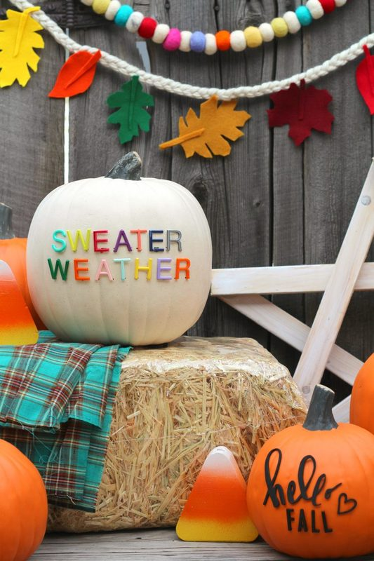 I had to incorporate it in my fall decorating and add some letterboard letters to my pumpkins! : fall decorating ideas with pumpkins - www.pureclipart.com