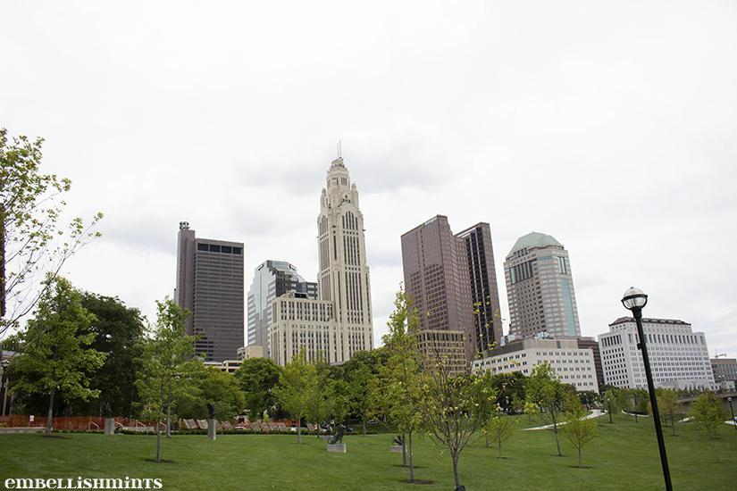 Downtown Columbus is one of the most beautiful locations I've ever been to. Check out our Downtown Columbus Vacation on www.Embellishmints.com