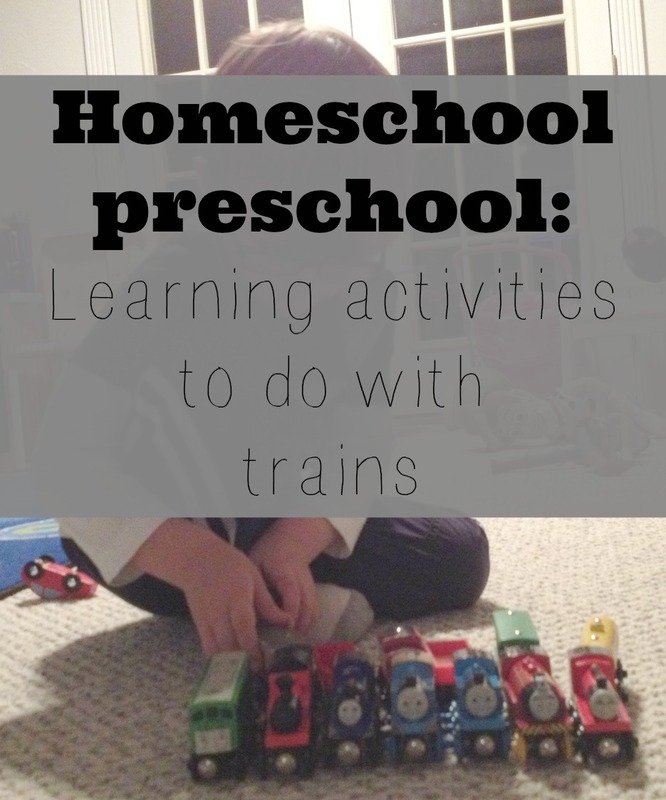 homeschool activities with trains