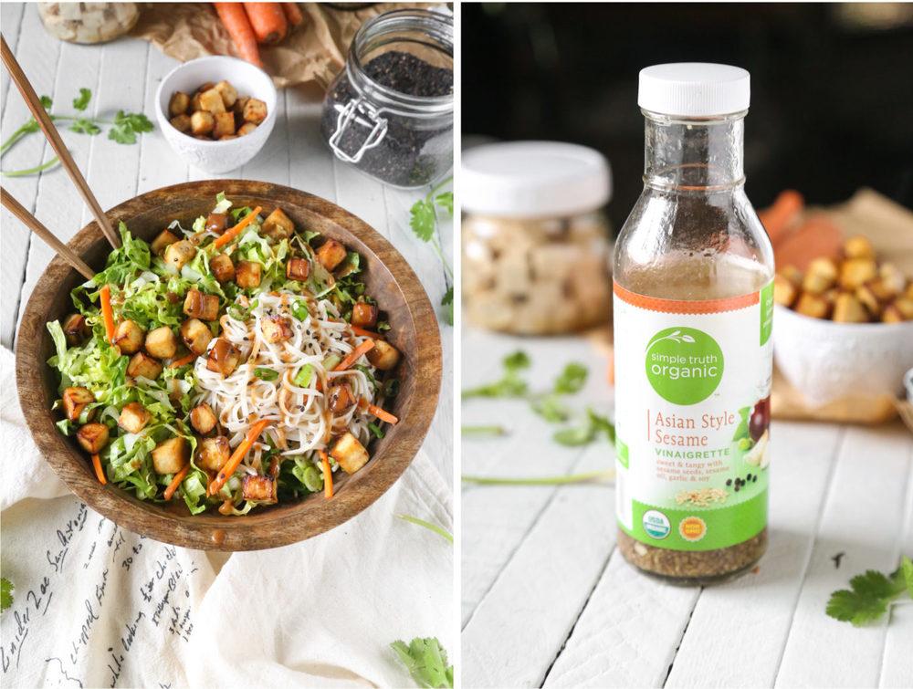 Asian Sesame Air-Fried Tofu Noodle Salad | Gluten-Free & Vegan | The Plant Philosophy