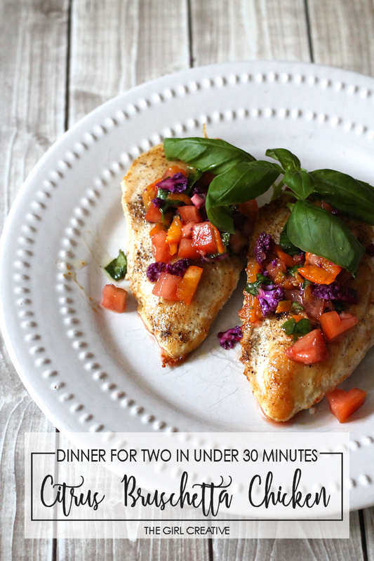 Citrus Brushetta Chicken for Two prepared in under 30 minutes | Savory Summer Recipes | Sponsored