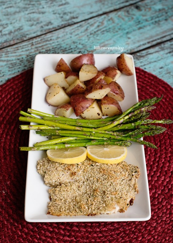 Lemon & Herb Tilapia With Roasted Italian Potatoes & Baked Asparagus - Easy & delicious way to make tilapia!