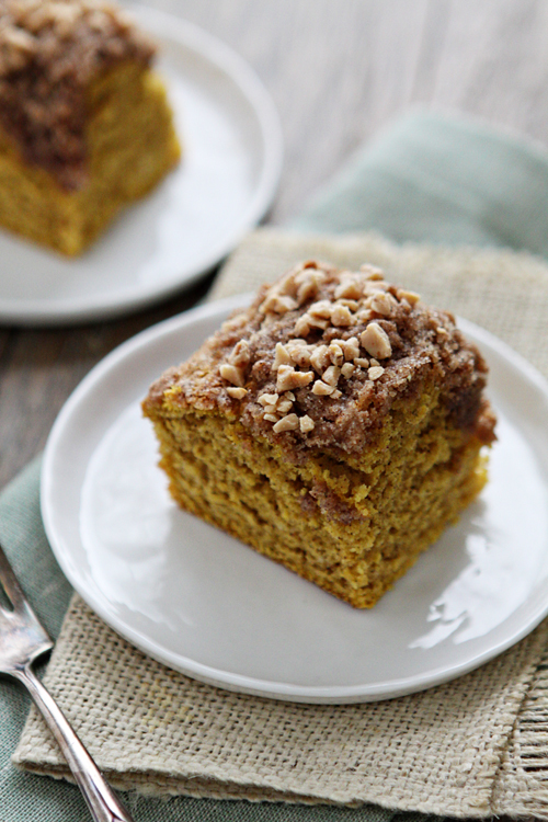 ... after dinner snack is this Pumpkin Coffee Cake with Toffee Streusel