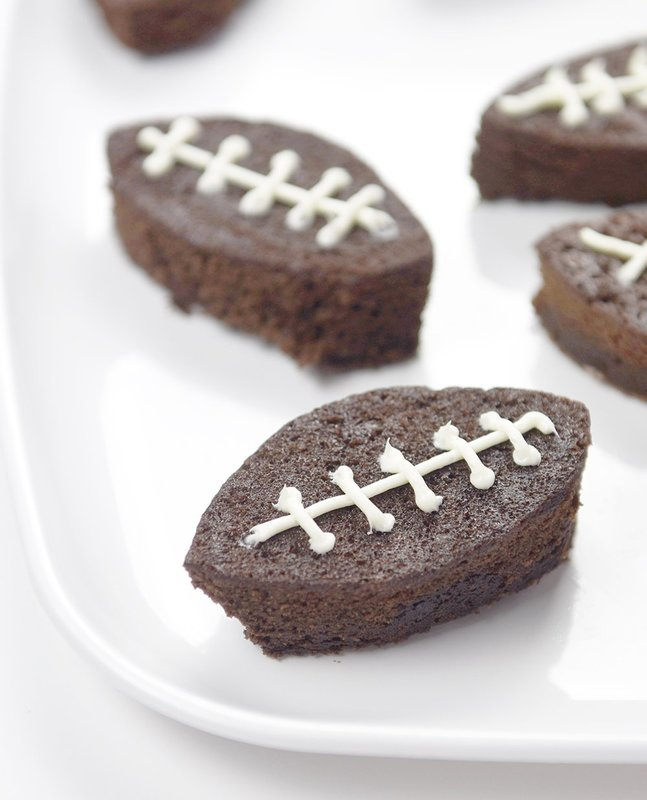Easy Football Brownies for gamday! So cute and easily made with a soda pop can as the cookie cutter!