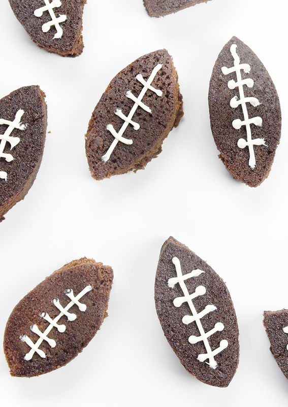 Easy Football Brownies!! Such a fun idea for game day and easy to make if you have a soda can!