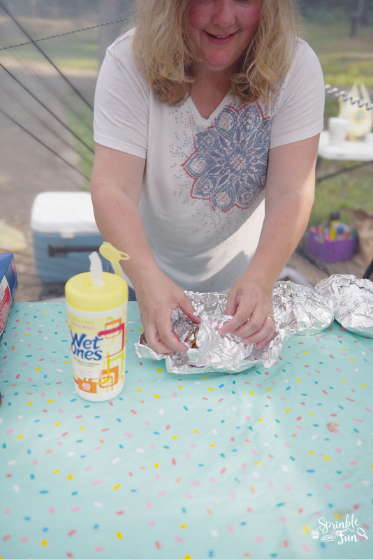 Keeping clean hands while camping!!