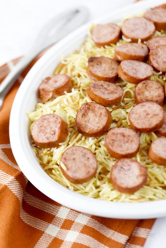 Smoked Turkey Sausage and Vermicelli Rice Pilaf!