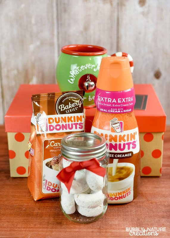 Coffee and Donuts Christmas Gift Basket Idea!! Great for the coffee and donut lover!