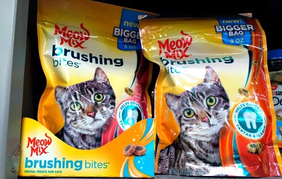 Meow Mix Brushing Bites at Walmart - Right there in the pet care aisles