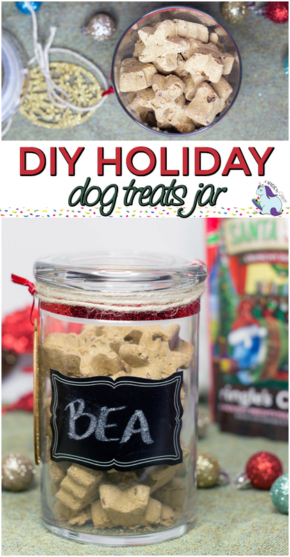Easy DIY Dog Treats Jar to Give as Holiday Gifts