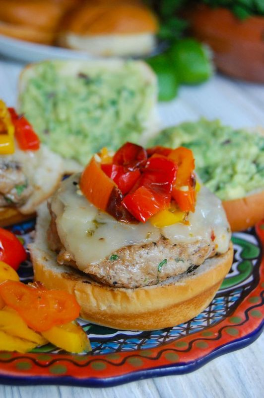 Sweet and Spicy Turkey Burgers with Guacamole - A Cedar Spoon