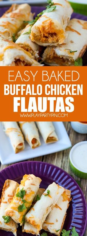 These buffalo chicken flautas are the perfect game day food! An easy appetizer that takes under 30 minutes to make and way less for them to disappear! Definitely adding these to my Super Bowl food list for this year!