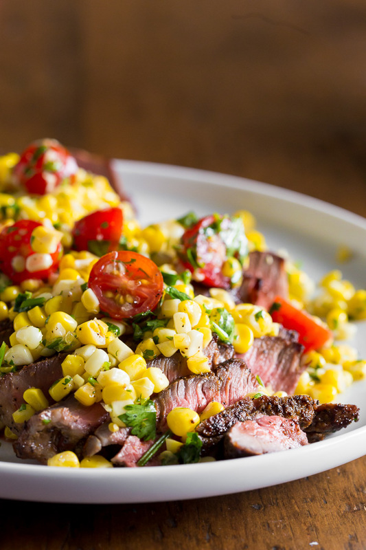 This grilled London broil with corn salsa captures the flavor of summer. Simply grilled London broil topped with a citrusy corn and tomato salsa. Super easy and ready in just 20 minutes!