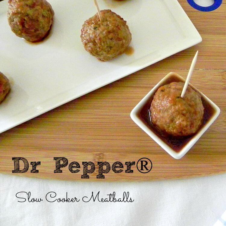 Dr Pepper® Slow Cooker Meatballs - a tailgate treat