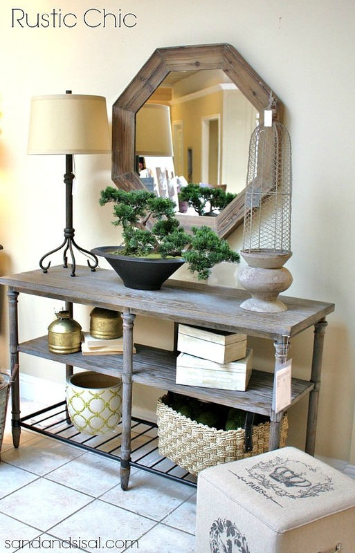 Foyer Decorating Ideas - Sand and Sisal