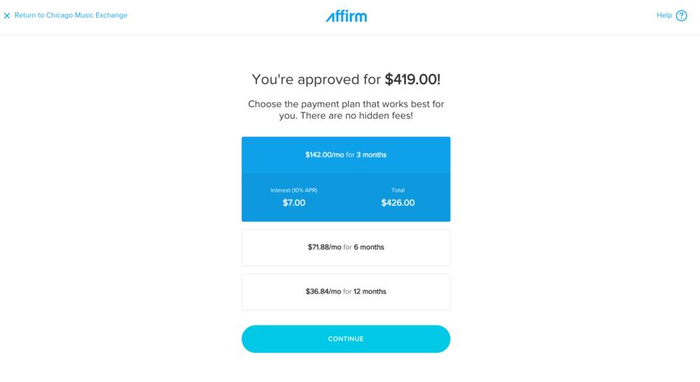 affirm loan