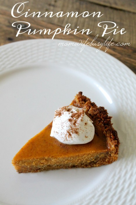 Toasty Cinnamon Pumpkin Pie Recipe