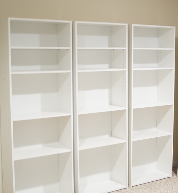 Stylish Craft Storage With Sauder Bookcases