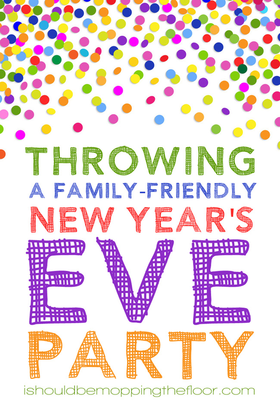 Throwing a Family Friendly New Year's Eve Party /// Free kiddo resolution printables.