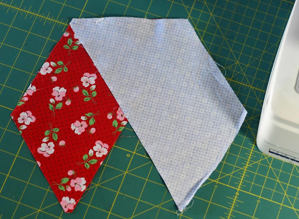 Sew two Half Hexies Together Joanns Quilt Fabric